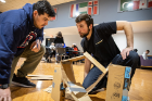 Engineering clubs constructed marble roller coasters out of cardboard.