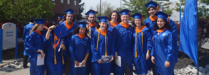 Senior students at graduation in 2012.