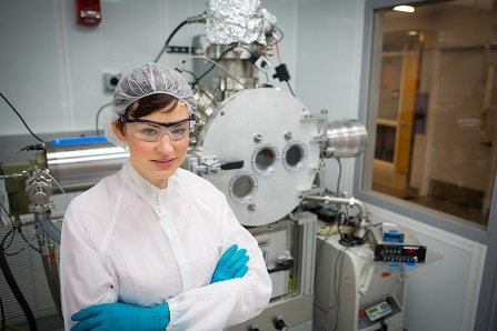 Image of a student in the lab environment.