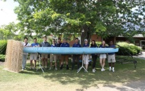 ASCE team poses with concrete canoe.
