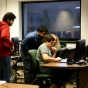 Photo of students working in Ketter 208 (computer lab).