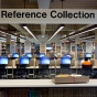 Reference collection area in a cyber library