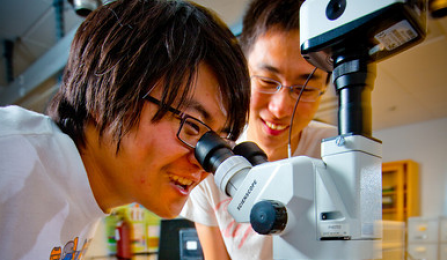 Students in Lab.