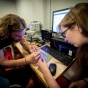 photo of students in the Electronics Tinkering Lab.