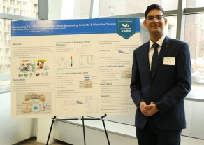 Amit Sangwan presenting at competition.