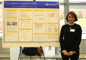 Fatemeh Aarabi presents her poster.