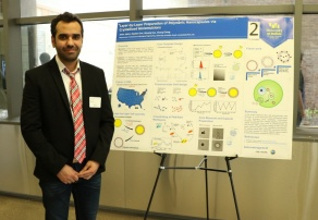 Amin Jafari presenting at competition.