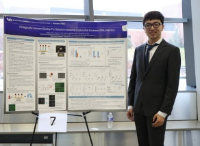 Yunchen Yang presenting at the competition.