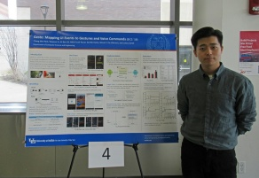 Chang Min Park presenting at competition.