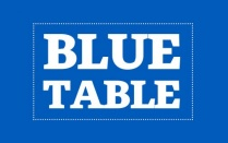 Blue table.