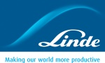 Linde Logo with tagline: Making our world more productive.