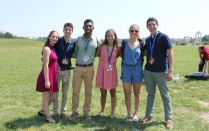 photo of student group at the 2017 camp