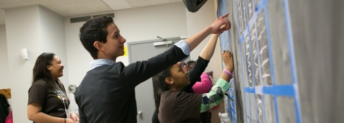 SEAS faculty and students work with the girls during workshops as part of Tech Savvy.
