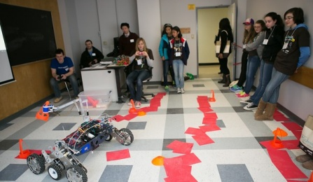 Tech Savvy workshop on building and controlling the movements of a robot.