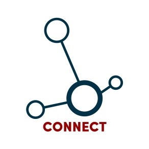 graphic representative of a network with the word connect