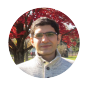 Ghasemi outside on a fall day.