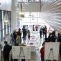 Grad students pitch their research projects at CSE Student Poster Session '13. Photo credit: Ken Smith.