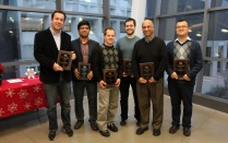 CSE faculty receive school awards at an SEAS award presentation ceremony.
