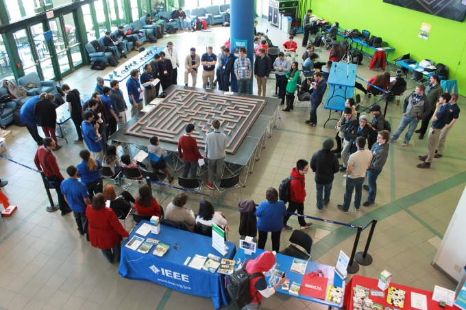 Micromouse Competition during the 2017 IEEE Conference at UB