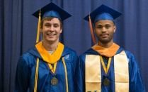 Mackenzie Ward and Chams Mballo, 2015 SUNY Chancellor's award winners