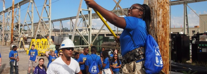 WNY high school students visit National Grid as part of a summer camp hosted by SEAS and National Grid