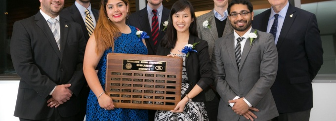 UBEAA honored 8 SEAS students with leaders in excellence scholarship.