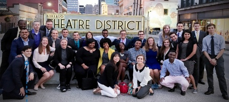 WNY Prosperity Fellows in downtown Buffalo
