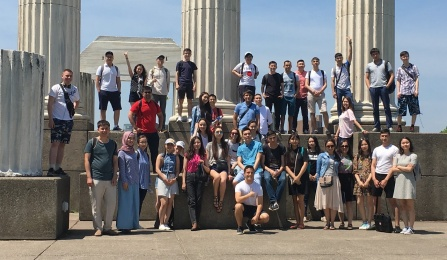 students from Nazarbayev University in Kazakhstan arrived at UB