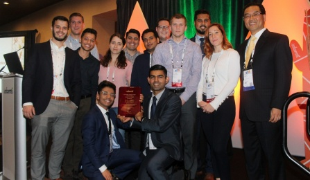 UB's INFORMS student chapter won an award at the annual conference.