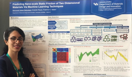 MDI graduate student Behnoosh Sattari won first place in the STLE student poster competition.