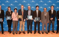 Group photo of SEAS faculty and staff award winners.
