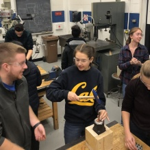 ESW students in the SEAS engineering machine shop.