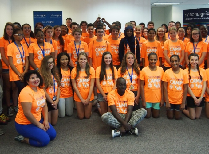 National Grid Engineering Camp participants take a group photo.