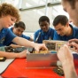Dozens of students are helping to design and build the satellites, which are expected to launch into space in 2017 and 2018.
