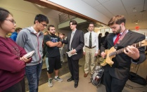 students present at the senior design expo