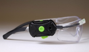 side view of safety goggles developed by Heads Up.