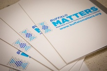 "Folders with the words ""Buffalo MATTERS"" on the front."